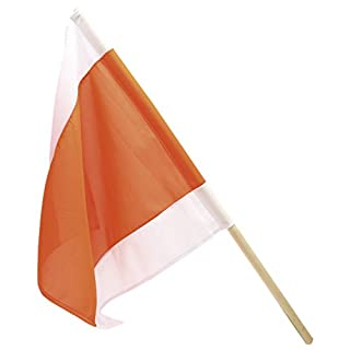 Dönges 212730 Warnflagge, 50 x 50 cm, orange/weiß