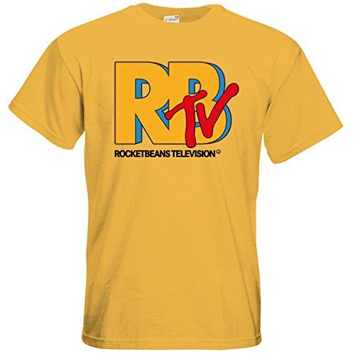 getshirts - Rocket Beans TV Official Merchandising - T-Shirt - RBTV Logo Gold