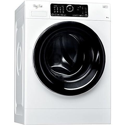 Whirlpool FSCR90430 Autonome Charge avant 9kg 1400tr/min A+++-50% Blanc machine à laver - machines à laver (Autonome, Charge avant, Blanc, 58 L, Noir, Toucher)