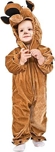 COSTUME di CARNEVALE da CANE SCOOBY vestito per neonato bambino 1-4 Anni travestimento veneziano halloween cosplay festa party 2037 Taglia 1