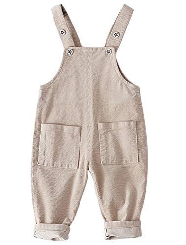 ARAUS Baby Latzhosen Cord Overall Jumpsuit Babyhosen Unisex für 0-3 Jahre Cord-overall