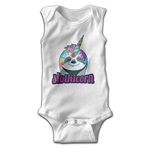 xcvgcxcvasda Ärmelloser Strampler für Babys Colorful Slothicorn Baby Sleeveless Romper Bodysuit Jumpsuit Cotton Comfortable Cute Pattern - Carters Striped Body