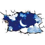 Wandtattoos & Wandbilder 3D Universum Galaxy Wandaufkleber Decke Boden Fliesen Aufkleber Aufkleber Für Kinderzimmer Wohnzimmer Badezimmer Toilette Sofa Hintergrund
