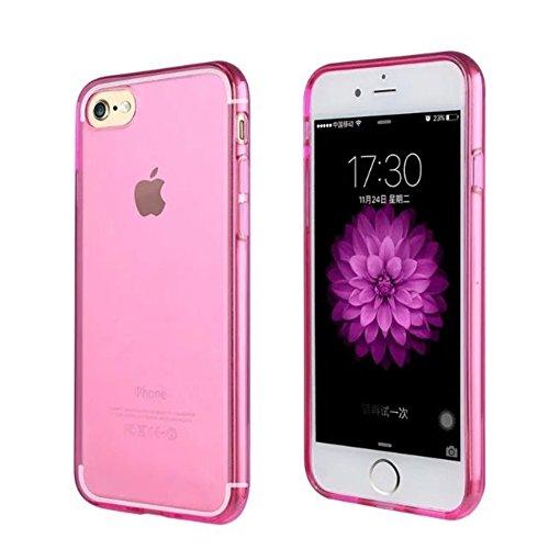 Schutzhülle für Apple Iphone 7 4.7 Zoll Smart Slim Case Book Cover Stand Flip (Farbe: gold) NEU in Pink