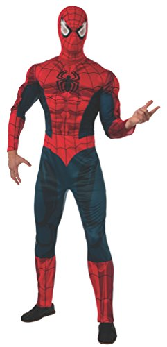 Marvel Deluxe Spider-Man Jumpsuit Adult Costume One Size Fits Most (Adult Deluxe Spiderman Kostüm)