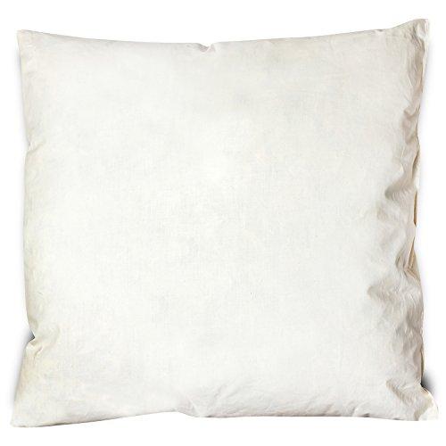 Home & Fashion Muelle Cojín 43x 43cm, 100% plumas de ganso | 100% algodón | Cojín 350g Relleno | para dormir, almohada,–Cojín decorativo, sofá cojín, Cojín relleno, relleno cojín, almohada