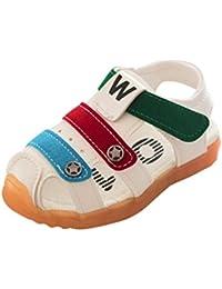 SOMESUN Sandali Estivi Scarpe da Bambino Fondo Morbido Slittata Calzature  Sportive per bambini Impara A Camminare Sandali Moda… ad11cdf39e0