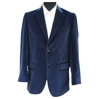 """Navy Blue Velvet Jacket 36"""" Regular"""