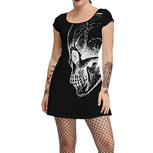 SEWORLD Halloween Frauen Vintage Kleid Mode Halloween
