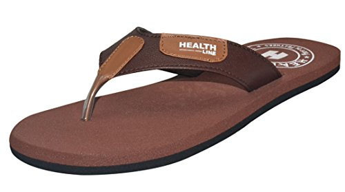 Health Line Softness Mcp Flipflop For Mens Brown
