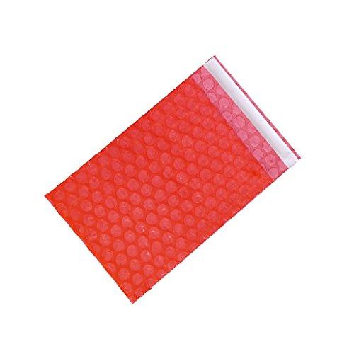 XSY Luftpolsterfolien Anti Statische Tasche Selbstklebend Luftpolsterbeutel Antistatisch Bubble Beutel 105 x 155mm+25mm - 100 Stück