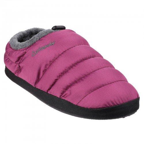 Cotswold Camping - Zapatillas de Estar por casa para Mujer (Pequeña (S)/Púrpura)