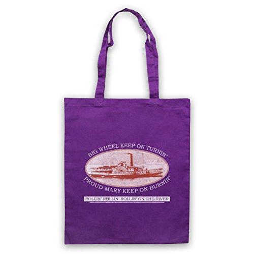 Inspiriert durch Creedence Clearwater Revival CCR Proud Mary Inoffiziell Umhangetaschen Violett