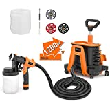 Paint Sprayer, Tacklife SGP17AC 1200W Spray Gun for 150 DIN/Min Paint Max Flow