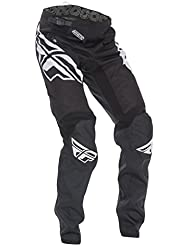 Fly Racing Pantalón Kinetic Kids Mountain Bike/BMX Negro de color blanco, niño, color negro, tamaño 26