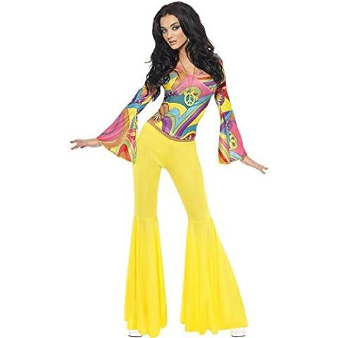 70er Jahre Outfit Damen Hippie Kostüm M 40/42 60er Jahre Vintage Hippiekostüm Flower Power Damenkostüm Blumenkind Mottoparty Verkleidung Retro Party Faschingskostüm Karneval Kostüme Damen Sexy
