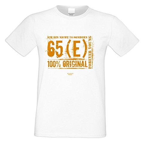 Herren-T-Shirt Geschenk Geschenkidee zum 70. Geburtstag Ich bin nicht 70 Geburtstagsgeschenk Männer auch in Übergrößen 3XL 4XL 5XL Farbe: weiss Weiß