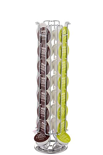 Dolce gusto 32 coffee pod rotating holder rack, porta capsule girevole per facile accesso
