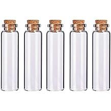 BENECREAT 20 Pack 20ml Botella de Vidrio Transparente con Corcho para Manuaildad de Artesanía Decoración de