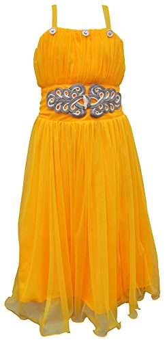 TINY TOON Party wear Baby Girls's Frock Dress (F108_4, Yellow, 3-4 Years)  available at amazon for Rs.399