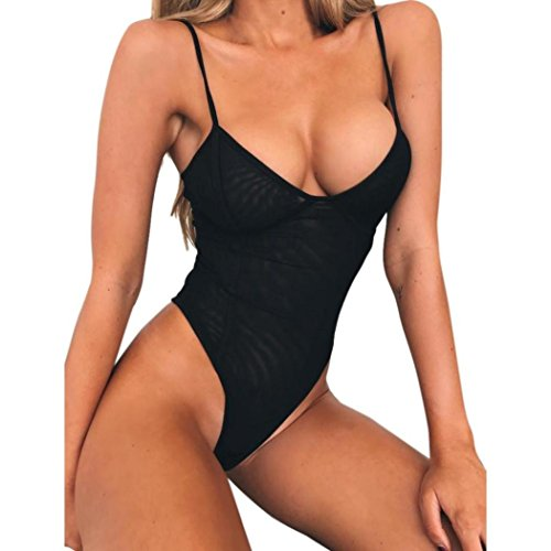 Bluestercool monokini donna push up sexy costume intero da mare