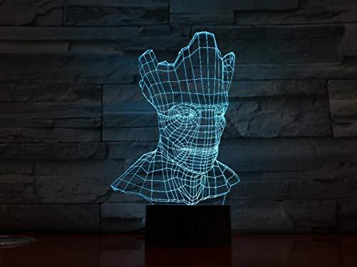 XXXCH Groot Halloween 3D Licht Optische Täuschung 7 Bunte Tischlampe Led Nachtlicht Carving Acryl Nachtlicht Handwerk Kinder Gx1394