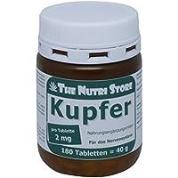 Kupfer 2 mg Tabletten 180 Stk. - Für das Nervensystem - 6 Monatsvorrat
