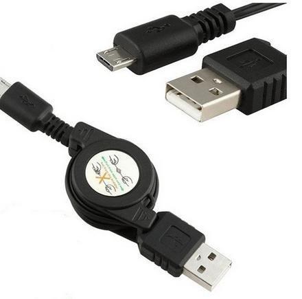 Cable de Carga USB/Micro-USB Retráctil para Telephono Samsung Galaxy