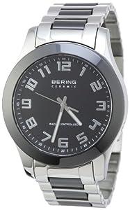 Bering Time Radio-Controlled 33041-742 - Reloj analógico de cuarzo para hombre, correa de diversos materiales multicolor (radio, agujas luminiscentes) de Bering Time