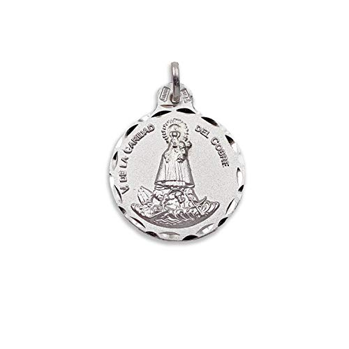 Medalla Religiosa - Medalla Virgen de la Caridad del Cobre 21 mm. Plata de Ley 925 milésimas.