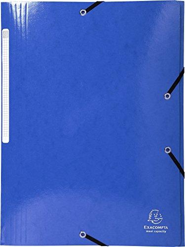 Exacompta-iderama-Chemise-3-rabats--lastique-et-Maxi-Capacit-en-carton-manille-425-gm-Bleu-fonc-Format-A4