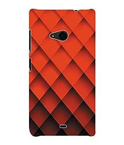 Fuson 3D Printed Pattern Designer Back Case Cover for Microsoft Lumia 535 - D1064