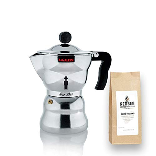6 Tassen Moka Alessi Alessandro Mendini mit 125g Kaffee Alessandro Mendini Alessi