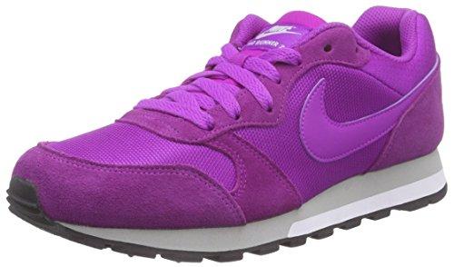 Nike - Md Runner 2, Scarpe da Donna Viola (Vivid Purple/Mtllc Slvr-White )