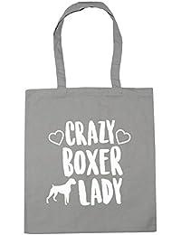 HippoWarehouse Crazy Boxer Lady Bolso de Playa Bolsa Compra Con Asas para gimnasio 42cm x 38cm