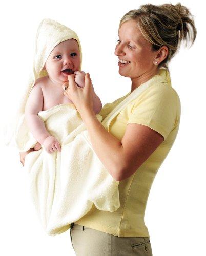Clevamama Splash and Wrap Baby Bath Towel (Cream)