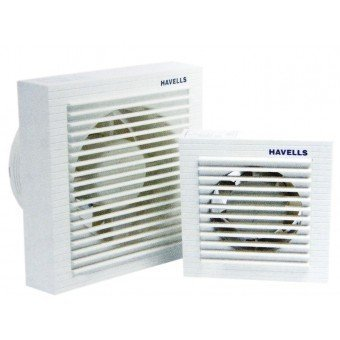 Buy havells ventilair 100mm exhaust fan with window white for Small kitchen exhaust fan