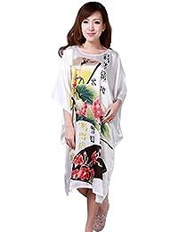 JTC Women s Flower Peacock Nightwear Robe Gown Sleepwear Nightdress 1014ba6f0