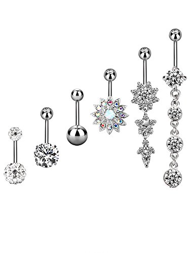 6 Pieces 14G Stainless Steel Bel...