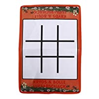 WEILYDF Tic Tac Toe Classic Simple Folding Non-Woven Fabric Checkerboard And Plastic Chess Pieces For Children Kids Educational Toy