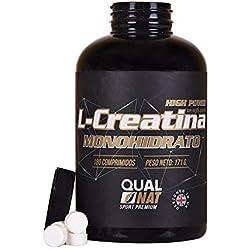 Creatina para aumentar la fuerza y masa muscular - Suplemento deportivo que contribuye a mejorar la resistencia y el rendimiento deportivo - Retrasa la fatiga y aporta energía - 180 comprimidos
