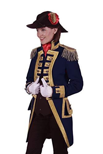 Kostüm Admiral Jacke - Thetru Damen Kostüm Admiral Jacke Garde Uniform blau Karneval Gr.L