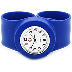 NEW Deep Blue Nurse adult Wrist Watch Large Size Snap/Slap On Watch
