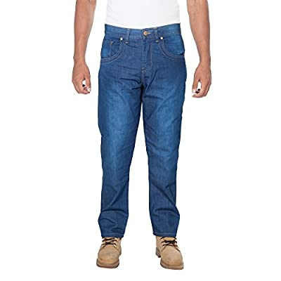 OneDayMore Straight Fit Aramid Lined Denim Motorcycle Jeans, Blue, Motorcylce Jeans with Free Protectors.