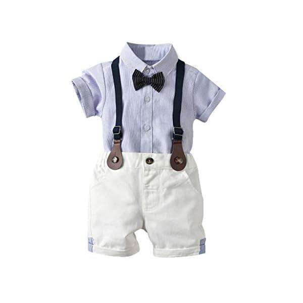 Ropa Bebé Niño Verano, K-youth Conjunto de Ropa para Niños Bautizo Ropa Bebe Recien Nacido Niño Camiseta Mangas Corta… 2