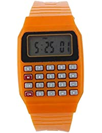 fb59f5283905 BEIBEILE Relojes para Niños Niño Y Niña Calculadora De Reloj En Vivo Led  Reloj Kid Silicona Multi-Propósito Fecha Y Hora Reloj Digital De…