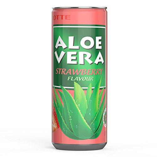 Aloe Vera Strawberry(Erdbeere, 30x0.24l), Aloe Vera Saft, Aloe Vera Getränk aus der Aloe Vera Pflanze, Aloe Vera Gel, Aloe Vera Drink