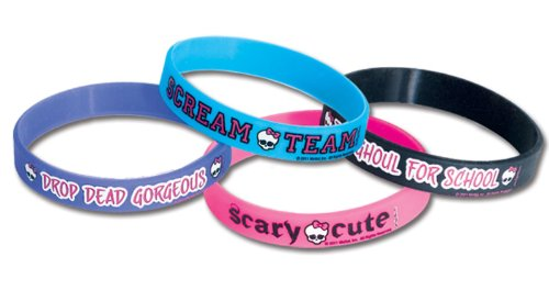 Image of Monster High Rubber Bracelets-4pcs