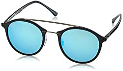 Ray-Ban Mirrored Round Unisex Sunglasses - (0RB4266601S5549|48|Light Green Mirror Blue lens)