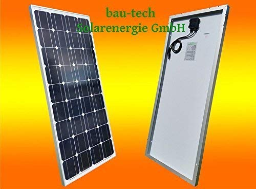 1 Stück 130 Watt Solarmodul Solarpanel Photovoltaik Solarzelle monokristallin von bau-tech Solarenergie GmbH